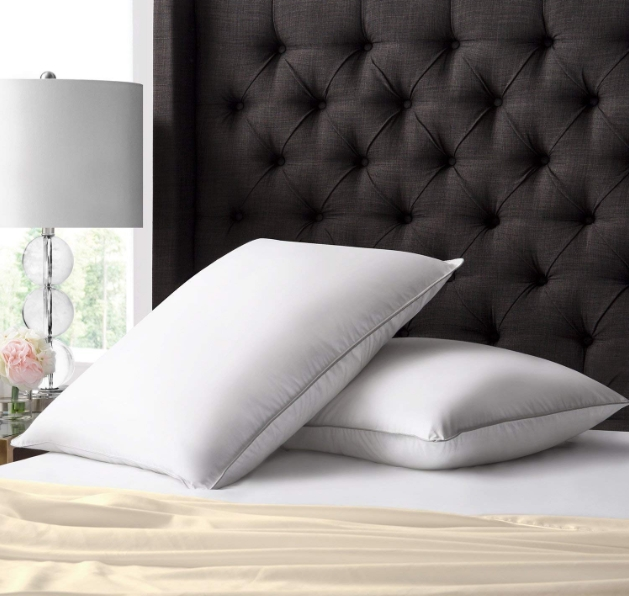 Beckham Luxury Linens Hotel Collection White Down Pillow 2 Pack With Long Staple Cotton Shell